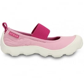 Girls Duet Busy Day Mary Jane (Childrens) Carnation/Fuchsia, Stretchy neoprene upper for a comfortable fit