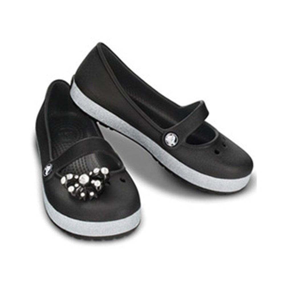 e4db96f23301 Crocs Girls Genna CrocBling Black