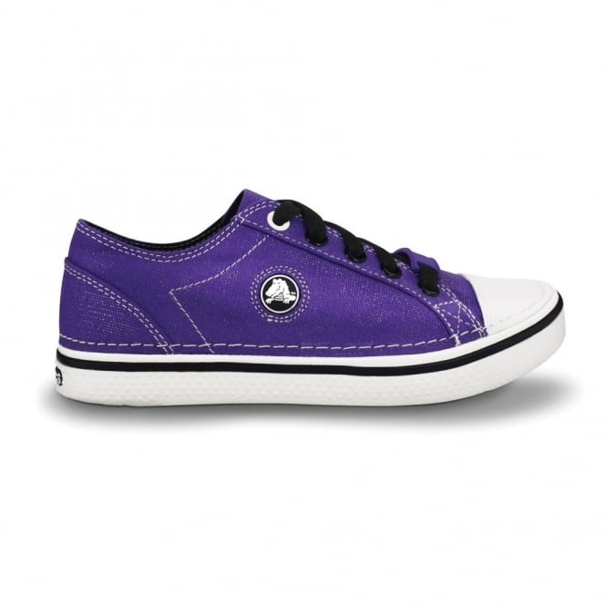 Crocs Girls Hover Sneak Metallic Ultraviolet, Retro styled classic sneaker with a metallic shimmer