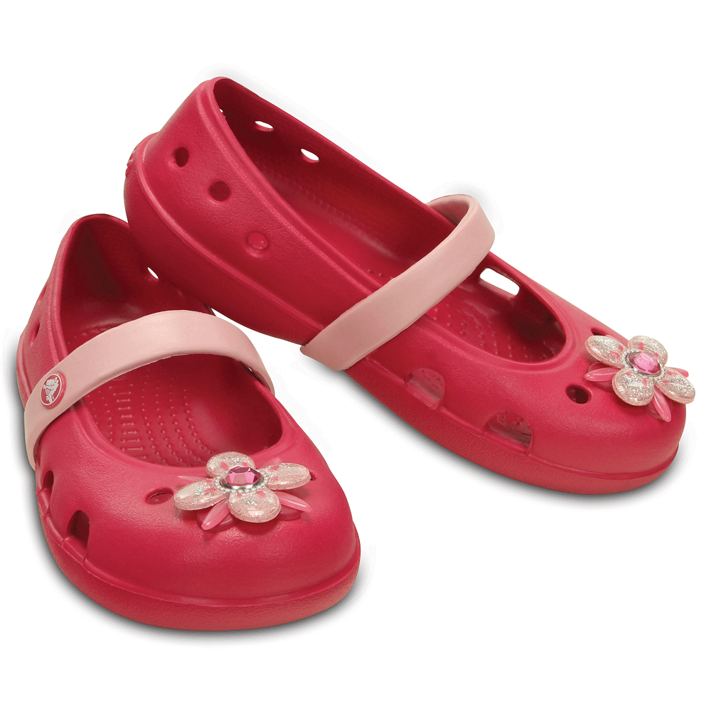 7520c057d Crocs Girls Keeley Springtime Flat Raspberry Petal Pink