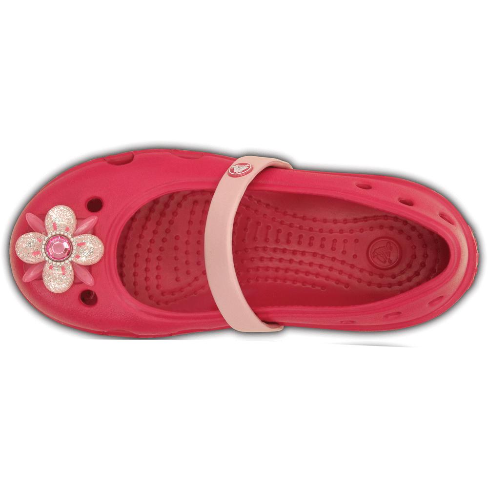 34679606e Crocs Girls Keeley Springtime Flat Raspberry Petal Pink