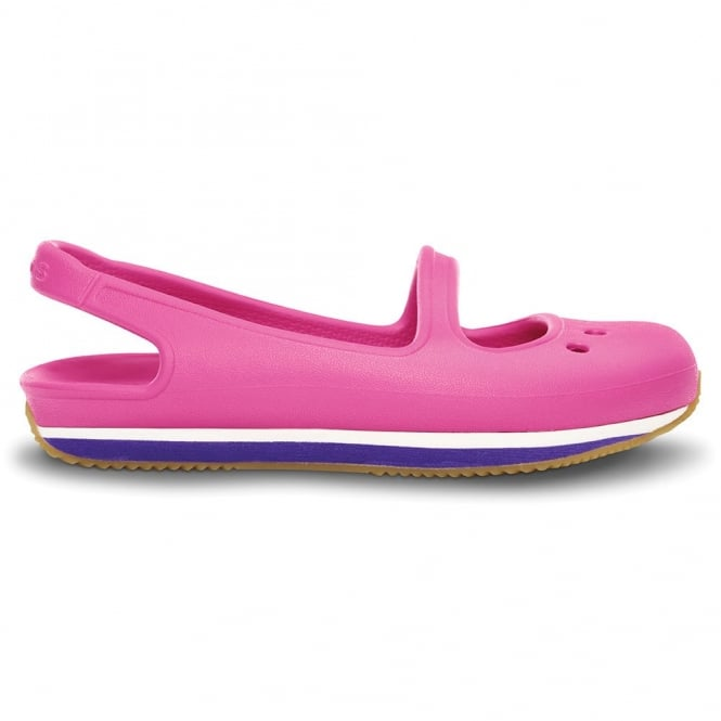 Crocs Girl's Retro Mary Jane Fuchsia/Ultraviolet, sling back pump style shoe