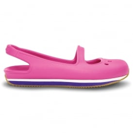 Girl's Retro Mary Jane Fuchsia/Ultraviolet, sling back pump style shoe