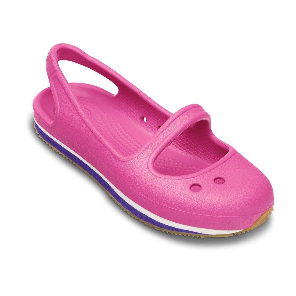 fdc7999eb Crocs Girl s Retro Mary Jane Fuchsia Ultraviolet