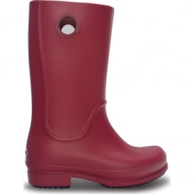 Girls Wellie Boot Pomegranate, fully molded rain boot