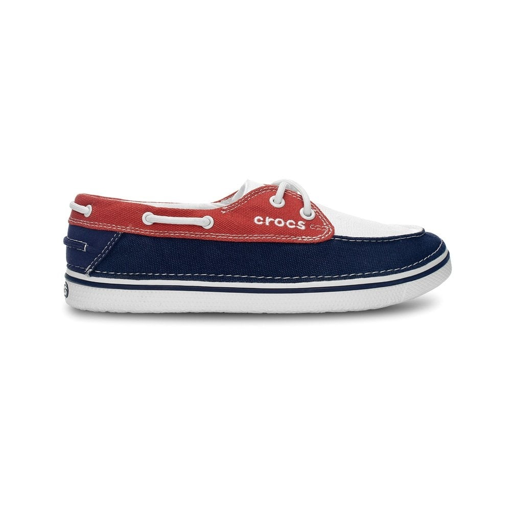fbcb2571d2f33f Crocs Hover Boat Shoe Womens Oyster Scarlet