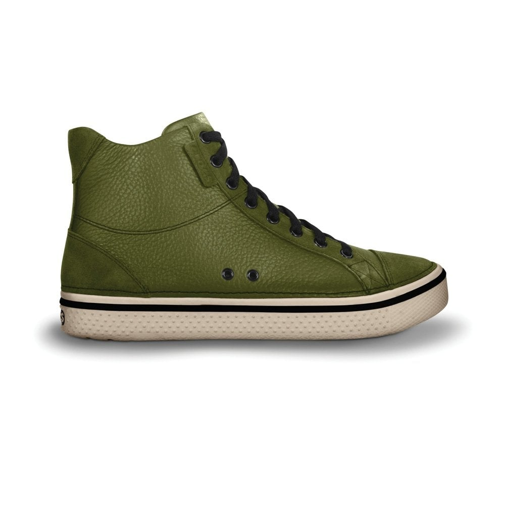 be04c63bc62b Crocs Hover Mid Leather Army Green Stucco