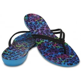 Isabella Graphic Flip Multi/Leopard, a pretty flip with feminine shape