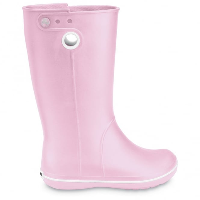 Crocs Jaunt Boot Bubblegum, Fully molded Croslite light weight wellington boot