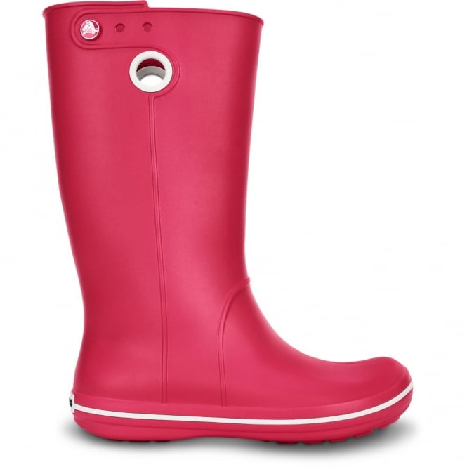 Crocs Jaunt Boot Raspberry, Fully molded Croslite light weight wellington boot