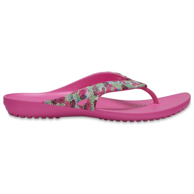 Crocs Kadee Flip II Graphic Pink Floral, a lighter and prettier flip for the ladies!