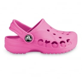 Kids Baya Shoe Fuchsia, A twist on the Classic Crocs slip on shoe