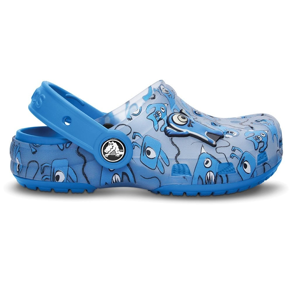 3bb57f4eaf8dc Crocs Kids Chameleons Alien Clog Light Blue Ocean