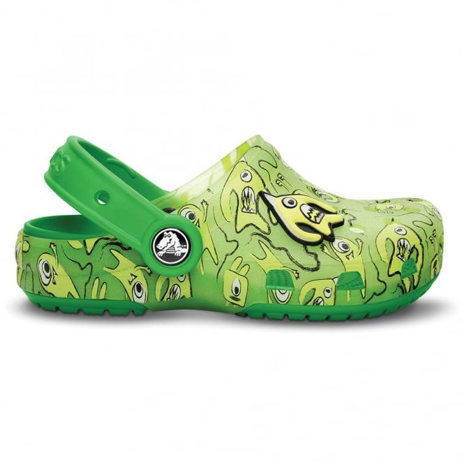 Crocs Kids Chameleons Alien Clog Volt Green/Lime, Innovative colour-changing technology with ALIENS!