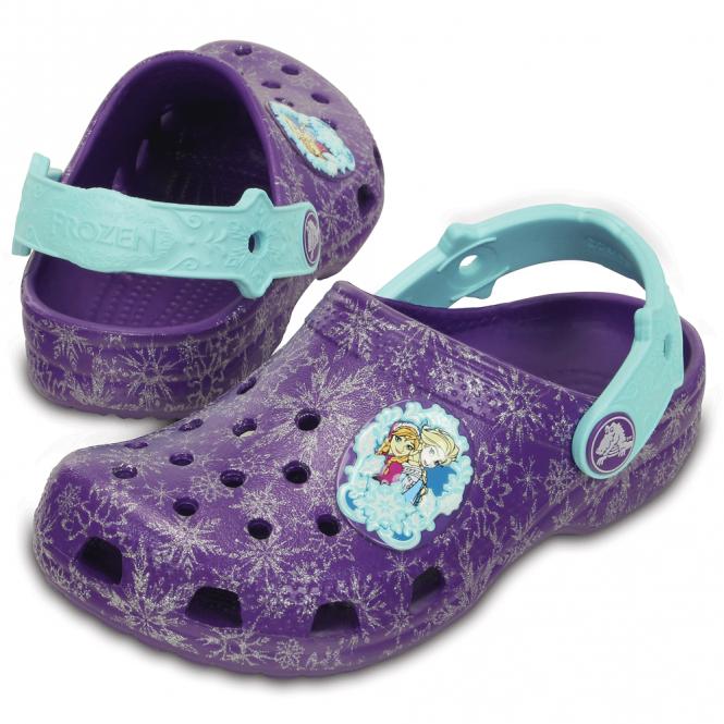 Crocs Kids Classic Frozen Clog Neon Purple The Classic