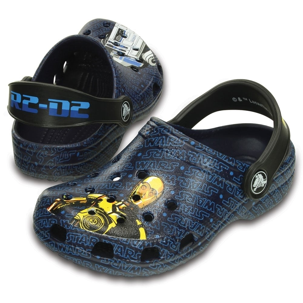 1e01177f7ffc4 Crocs Kids Classic Star Wars R2D2 C3PO Nautical Navy
