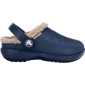 Kids ColourLite Lined Clog Navy/Tumbleweed, Winter just got lighter and brighter
