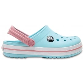 Kids Crocband Clog (SS) Ice Blue/White