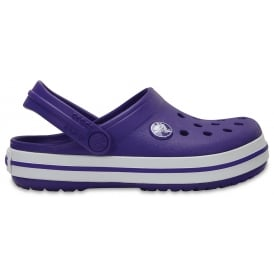 Kids Crocband Clog (SS) Ultraviolet/White