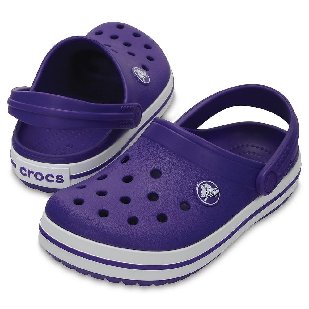 ece0e604d1b5f Crocs Kids Crocband Clog (SS) Ultraviolet White - Kids from Jellyegg UK