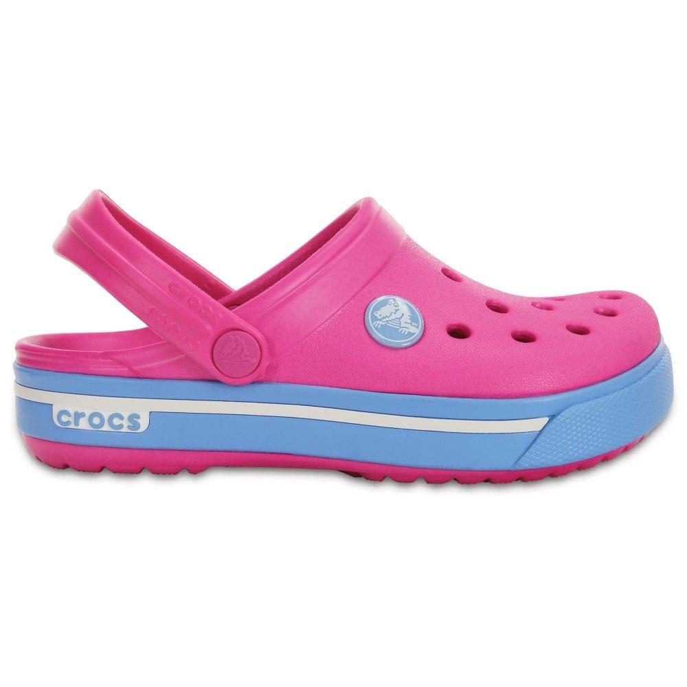 f71d74bf0 Crocs Kids Crocband II.5 Clog Neon Magenta Blue Bell