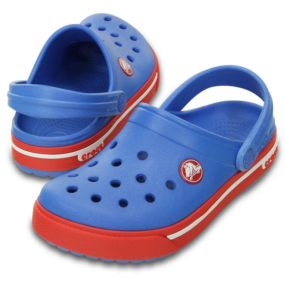a1c939f681181 Crocs Kids Crocband II.5 Clog Varsity Blue Red