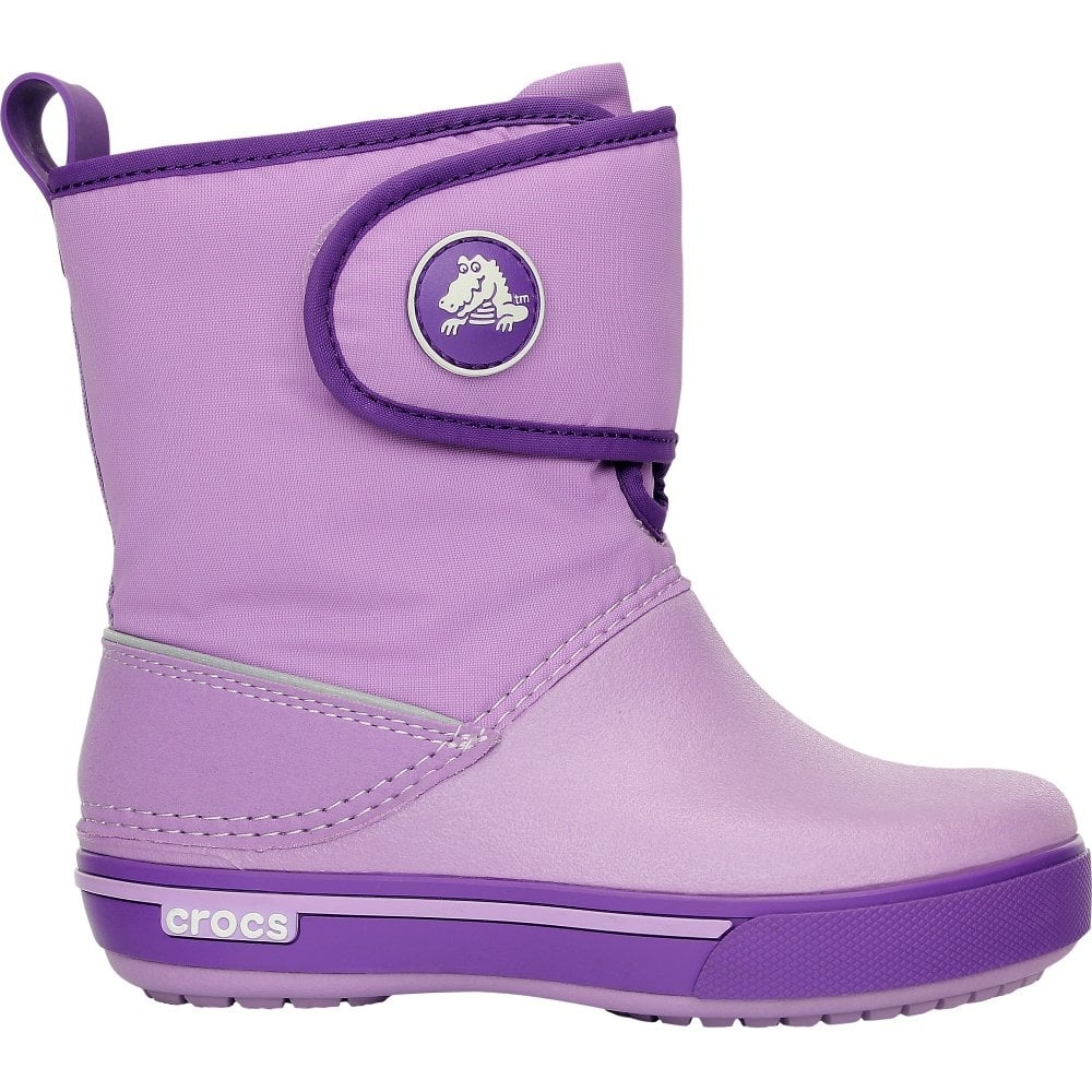 e38e86a27c77 Crocs Kids Crocband II.5 Gust Boot Iris Neon Purple