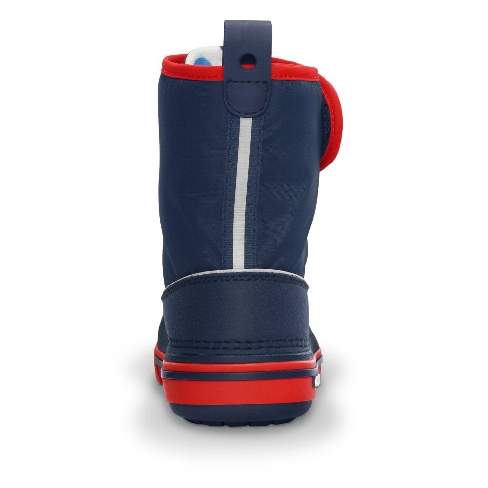 big sale 88882 54807 Crocs Kids Crocband II.5 Gust Boot Navy/Red, Water resistant nylon upper  with velcro adjustable shaft