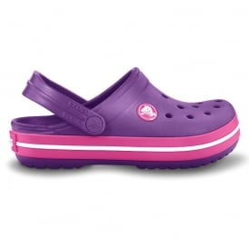 Kids Crocband Shoe Dahlia/Fuchsia, All the comfort of a Classic but with a Retro look