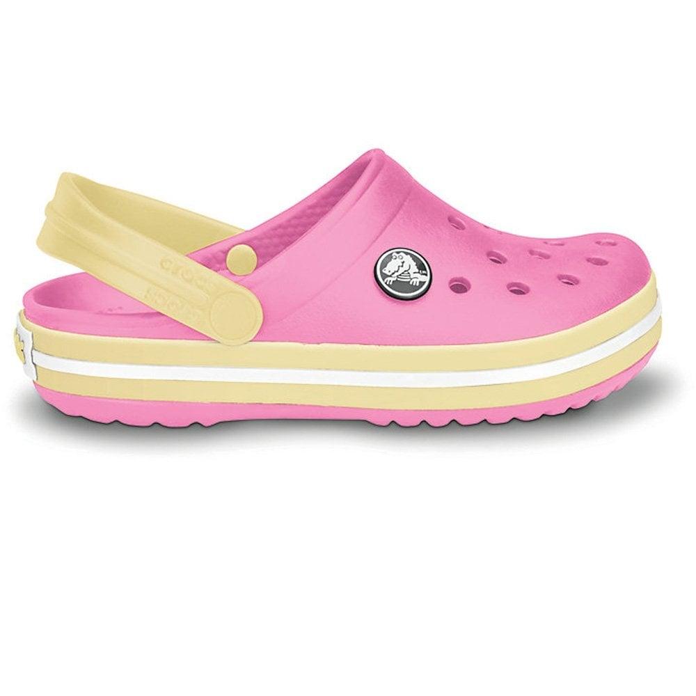 d74d864be3aa Crocs Kids Crocband Shoe Pink Lemonade Buttercup