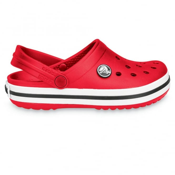 Crocs Kids Crocband Shoe Red, All the comfort of a Classic but with a Retro look