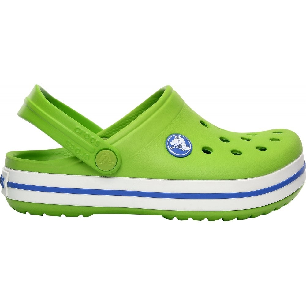 Kids Crocband Shoe Volt Green/Varsity Blue, All the comfort of a Classic but