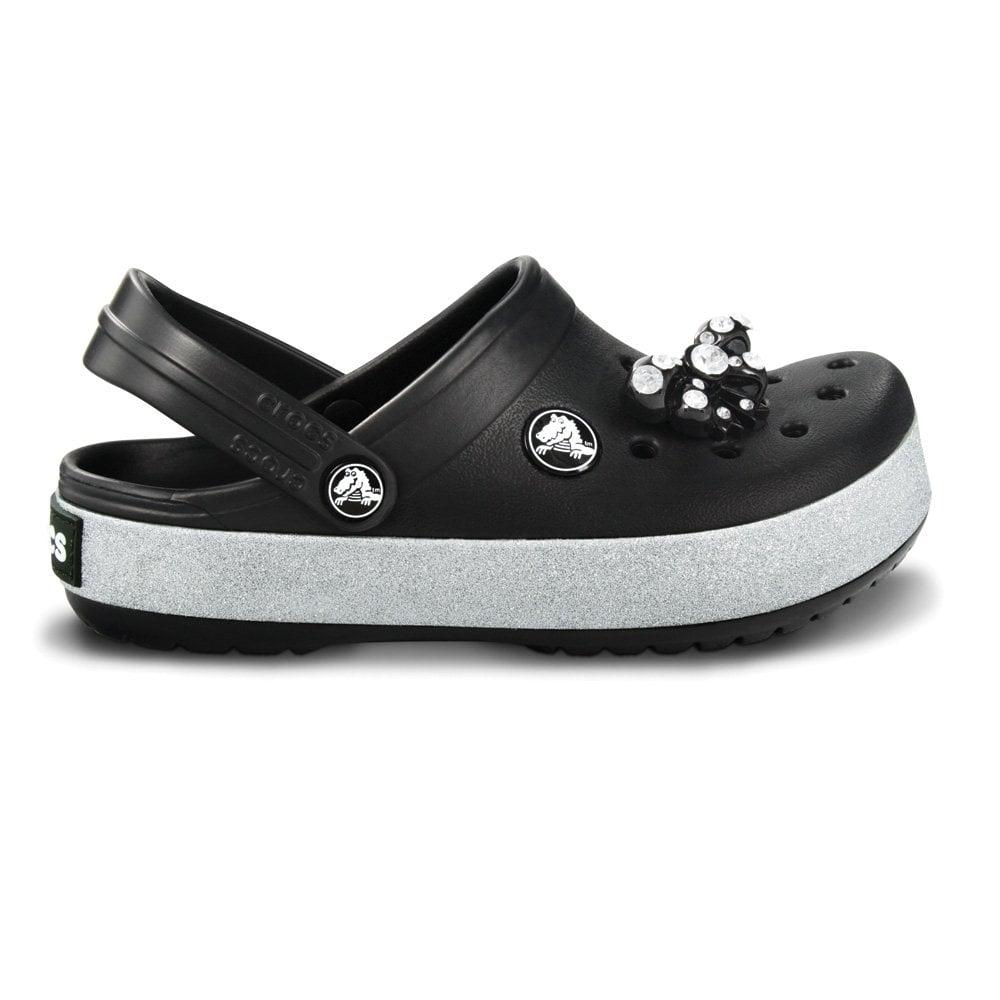 a5b644b44edd Crocs Kids CrocBling Clog Black