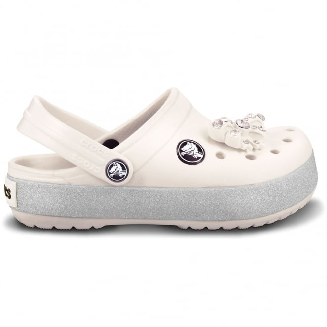 Crocs Kids CrocBling Clog Oyster, Fun sparkling midsole band and jibbitz on these bling Crocbands!