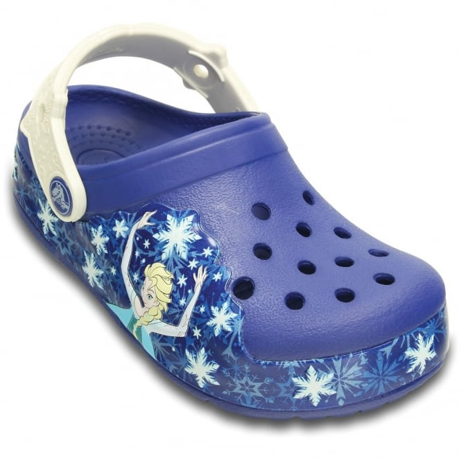 Crocs Kids Croclights Frozen Blue/Oyster, the comfort of the Classic but with fun LED light up design