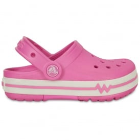 Kids CrocsLights Clog Party Pink/White, the comfort of the Classic but with fun LED light up design