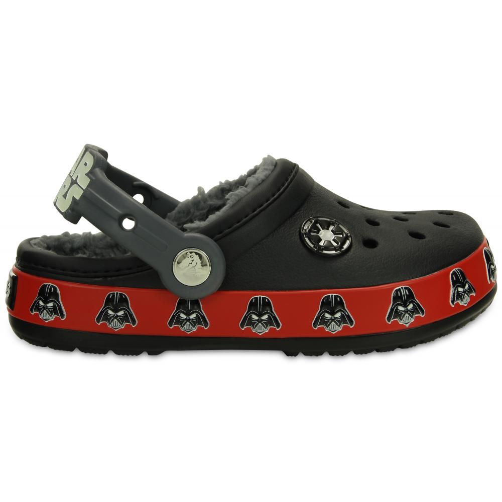 6896ac256b Crocs Kids Darth Vader Lined Clog Black