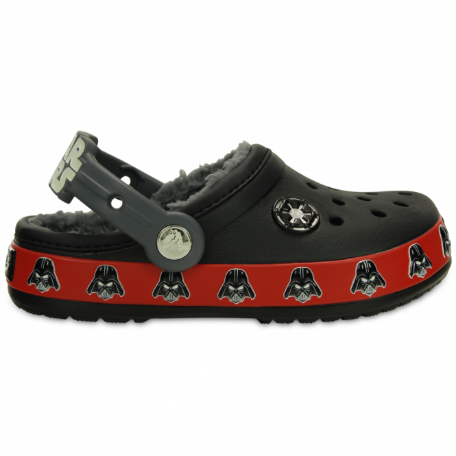 Crocs Kids Darth Vader Lined Clog Black, Fur lined clog inspired by Star Wars