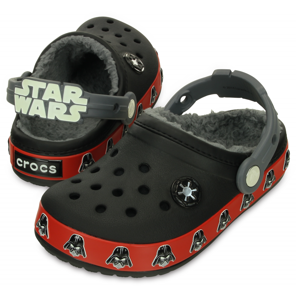 Crocs Kids Darth Vader Lined Clog Black