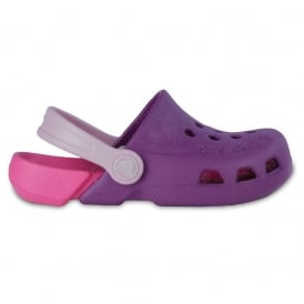 Kids Electro Shoe Dahlia/Fuchsia, light weight clog, double colours - double fun!
