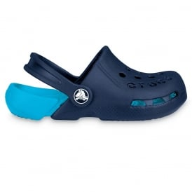 Kids Electro Shoe Navy/Electric Blue, light weight clog, double colours - double fun!
