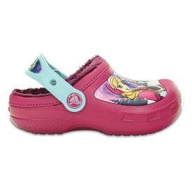 Kids Frozen Lined Clog Berry, fur lined clog with your favourite Disney Princesses!