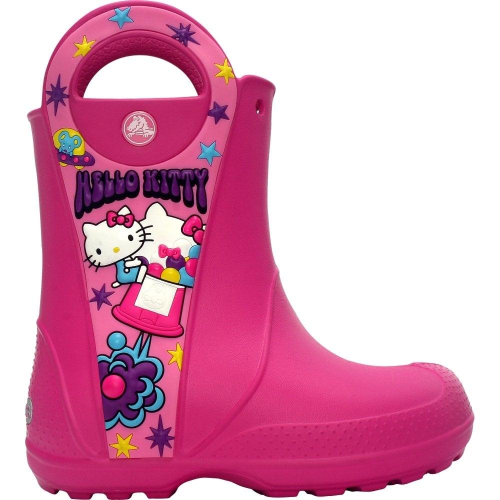ae9a75f50 Kids Hello Kitty Candy Blast Rain Boot Fuchsia, Waterproof rain boot with  easy on/