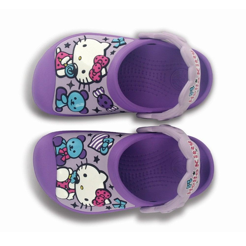 b77ec99fc5f695 Crocs Kids Hello Kitty Creative Clog Candy   Ribbons Purple