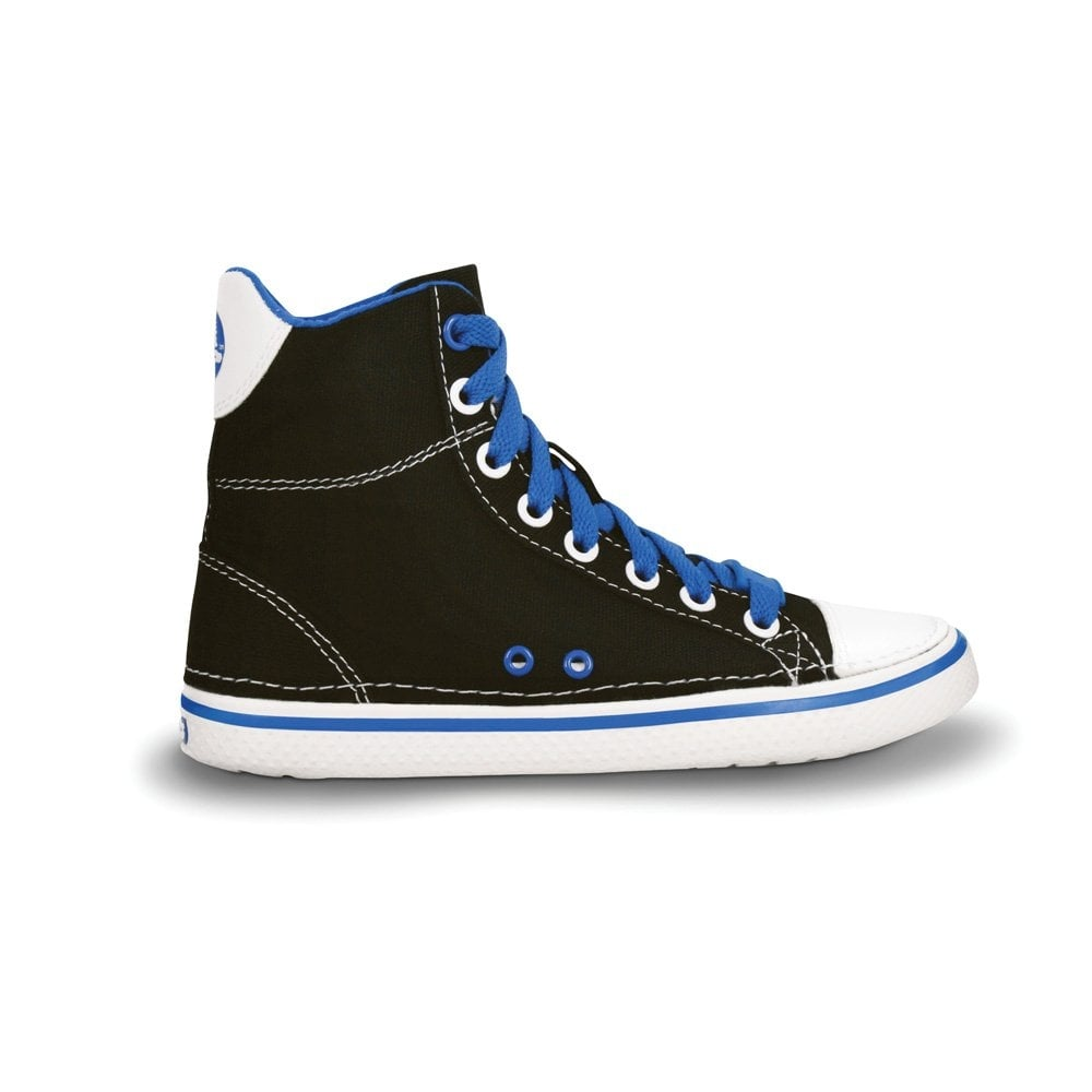 Kids Hover Sneak Hi Top Black/Sea Blue, Retro styled classic sneaker with  canvas
