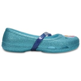 Kids Lina Frozen Flat Ice Blue, Glittery flat with starring Anna & Elsa