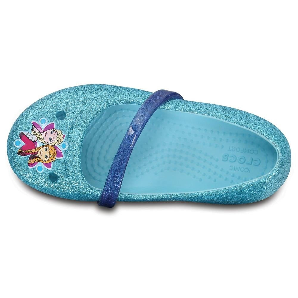 70c544ec9c287b Crocs Kids Lina Frozen Flat Ice Blue