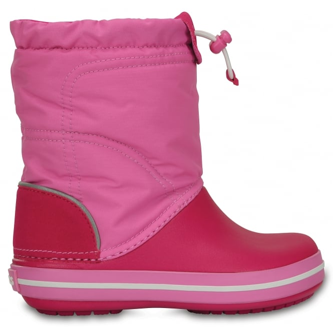 Crocs Kids Lodgepoint Boot Candy Pink/Party Pink