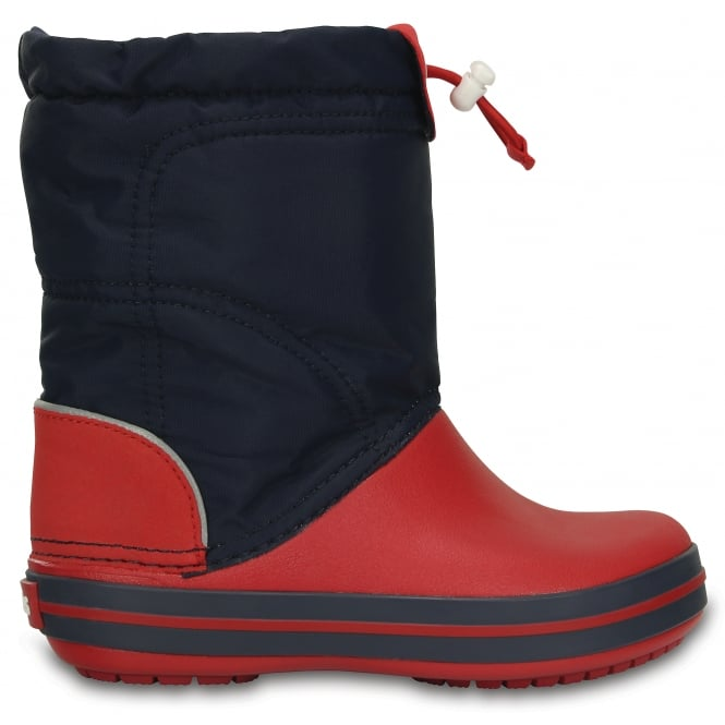 Crocs Kids Lodgepoint Boot Navy/Red