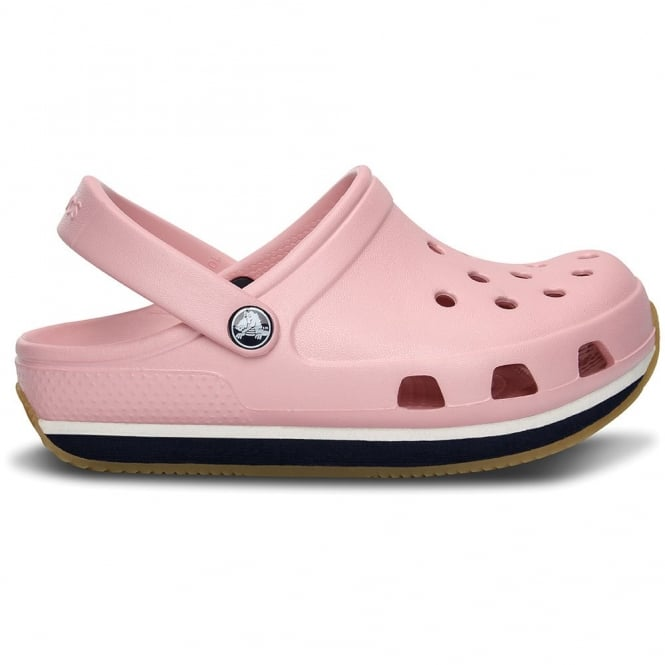 Crocs Kids Retro Clog Petal Pink/Navy, Slip on shoe with 21st century comfort and 70's style